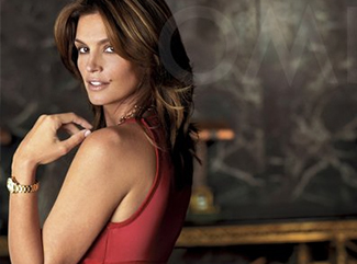Cindy Crawford with Omega